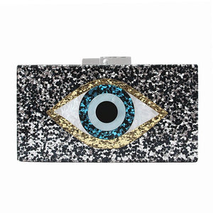 The Eyes Have It Acrylic Clutch
