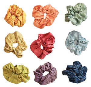 naturally dyed silk scrunchie