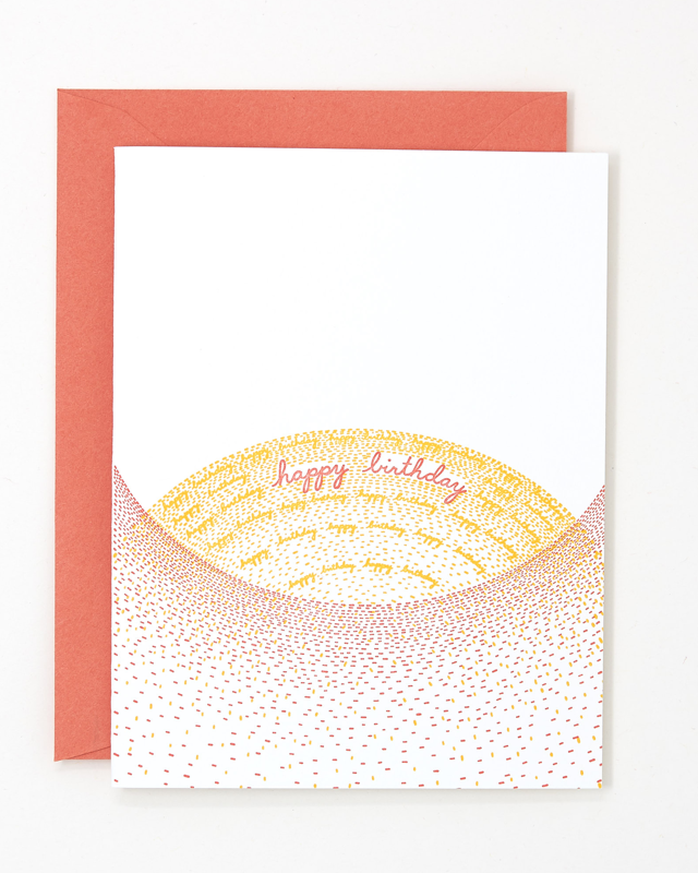 birthday sunset card