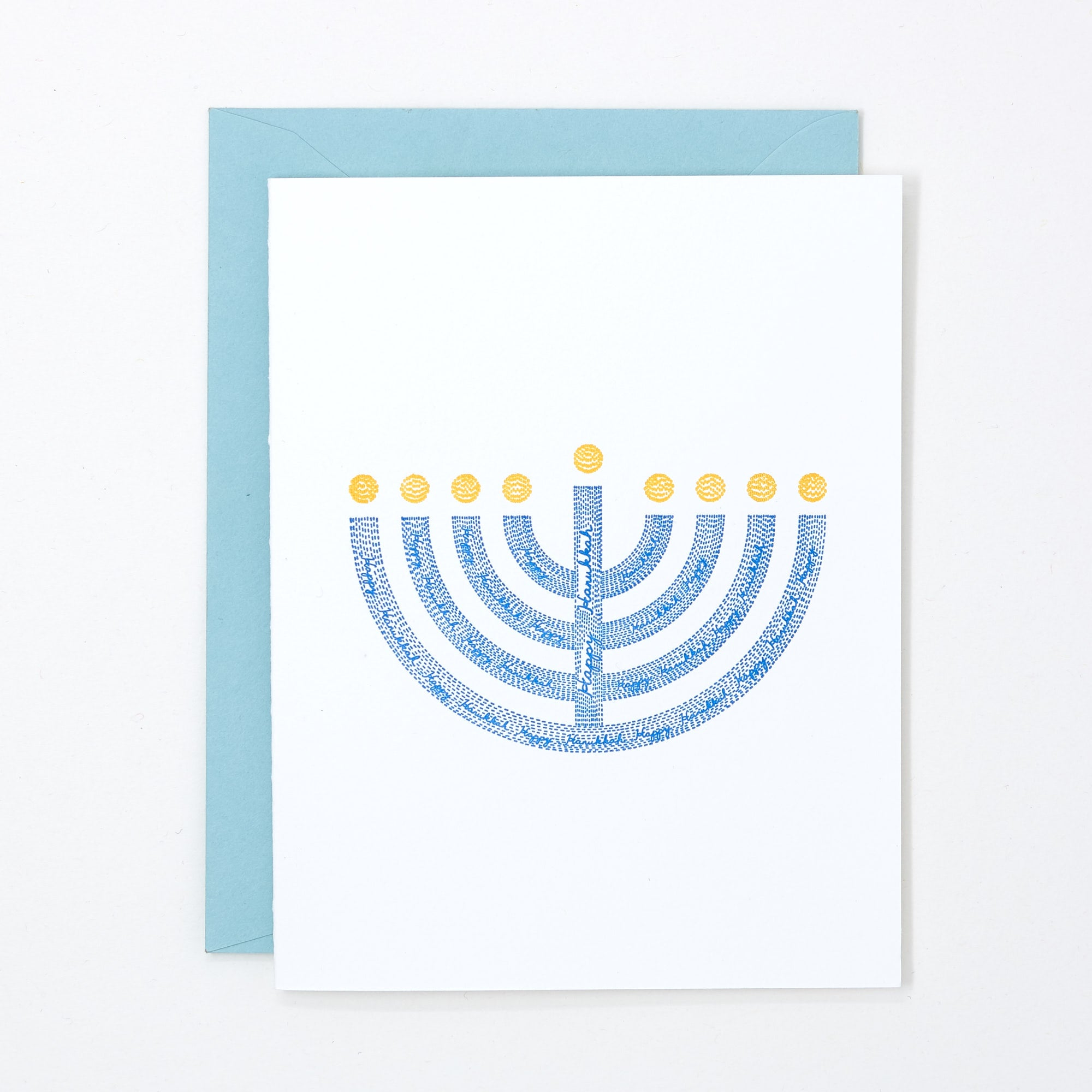 hanukkah menorah card box set