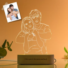 Load image into Gallery viewer, Customized 3D USB Wooden Base DIY Night Lamp