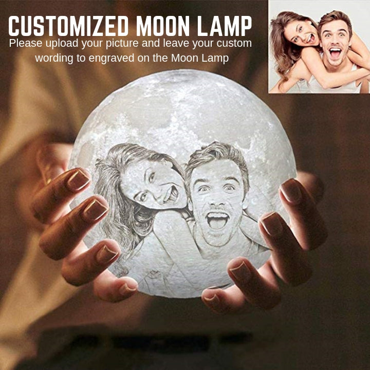 Customized 3D Enchanting Moon Lamp