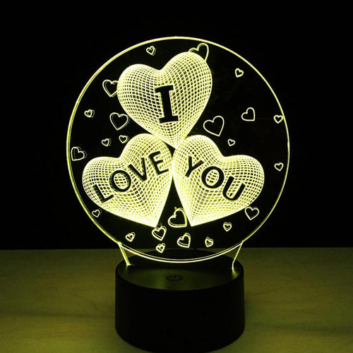 I LOVE YOU 3D Night Light