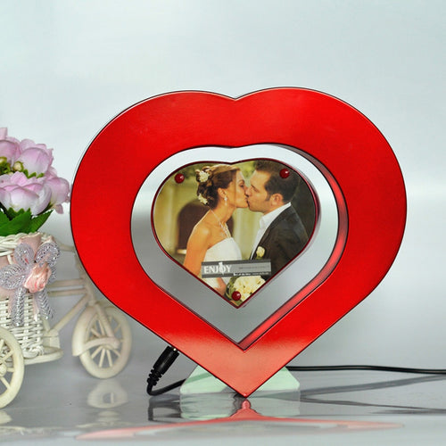 Heart Shaped Floating Photo Frame LED