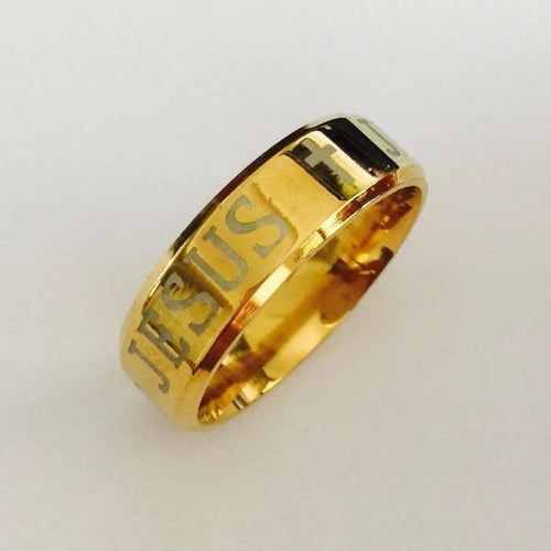 Gold Filled Jesus Ring