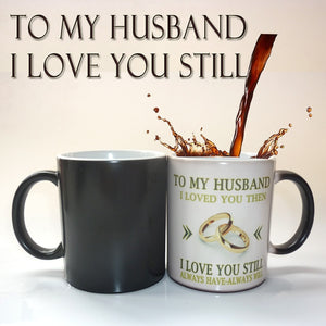 To My Wife / Husband mug magic color changing coffee mug