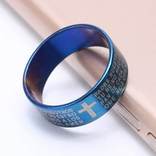 Load image into Gallery viewer, Cross Stainless Steel Ring