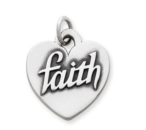 "Enduring love  Heart of ""Faith"" Charm"