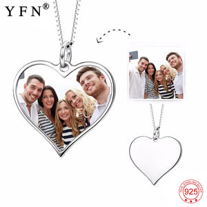 Personalized Heart Pendants Necklace