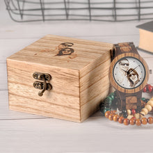 Load image into Gallery viewer, Custom LOGO Printing  Men Watch Unique Bamboo Wood Wristwatch
