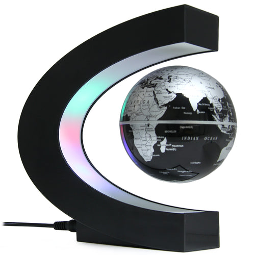 Novelty LED World Map Light Floating Globe Magnetic Levitation Light