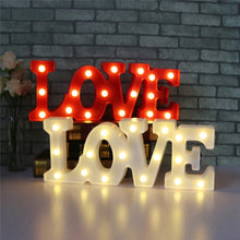 Load image into Gallery viewer, Romantic 3D LED Marquee LOVE Letter Sign Night Light