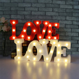 Romantic 3D LED Marquee LOVE Letter Sign Night Light