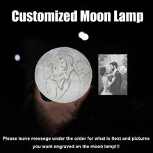 Load image into Gallery viewer, Customized 3D Enchanting Moon Lamp