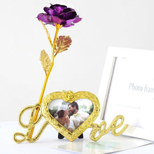 Load image into Gallery viewer, Foil Plated Rose Gold Rose Wedding Decoration Flower Valentine's Day Gift lover's Rose artificial flower Red Pink Purple Blue