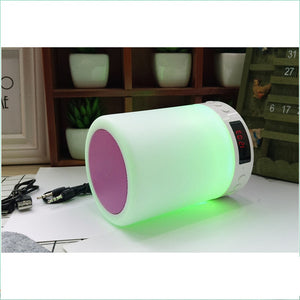 Custom Pattern Colorful Night Light Smart Portable Wireless Bluetooth Speaker