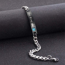 Load image into Gallery viewer, Her King His Queen Lovers Bracelet Stainless Steel Crystal Crown