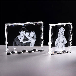 Custom Crystal Photo Frame Personalize Laser Engraved