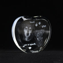 Load image into Gallery viewer, Custom Heart Crystal  Engraved