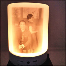 Load image into Gallery viewer, Custom Pattern Colorful Night Light Smart Portable Wireless Bluetooth Speaker