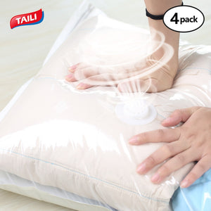 Vacuum Bags For Clothes No Pump Needed Hand Pressure