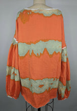 Load image into Gallery viewer, Free People Women Feels Right Pullover S Tulip Coralina Orange Green Tie Dye NWT