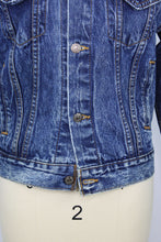 Load image into Gallery viewer, Vintage Levi's Denim Jacket Reclaimed With Hermes Ferronnerie Silk Scarf