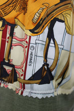 Load image into Gallery viewer, Vintage Army Jacket Reclaimed With Hermes Real Escuela Andaluza Silk Scarf