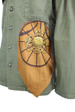 Load image into Gallery viewer, Vintage Army Jacket Reclaimed With Hermes Springs Scarf
