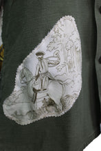 Load image into Gallery viewer, Vintage Army Jacket Reclaimed With Hermes Armes De Chasse Scarf