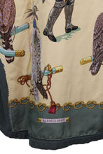 Load image into Gallery viewer, Vintage Army Jacket Reclaimed With Hermes Les Oiseaux Du Roy Scarf