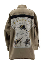 Load image into Gallery viewer, Vintage Army Jacket Reclaimed With Hermes Cadre Noir Scarf