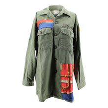 Load image into Gallery viewer, Vintage Army Jacket Reclaimed With Hermes Cannes et Pommeaux Scarf