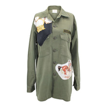Load image into Gallery viewer, Vintage Army Jacket Reclaimed With Hermes Pampa Scarf