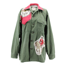 Load image into Gallery viewer, Vintage Army Jacket Reclaimed With Hermes Reprise Scarf