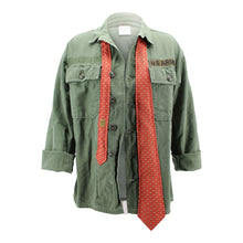 Load image into Gallery viewer, Vintage Army Jacket Reclaimed With Silk Tie
