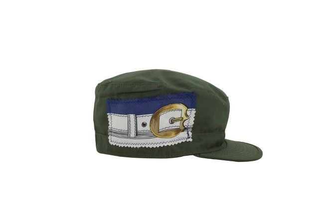 Combat Cap with Silk Scarf Piece