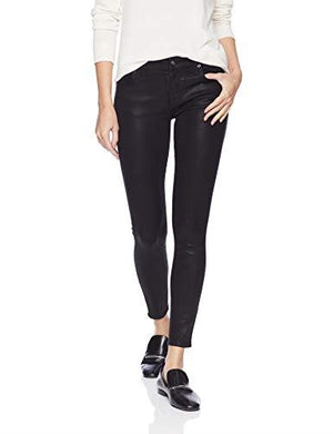 7 For All Mankind Womens Jeans sz 31 Black Coated The Ankle Skinny NWT $199