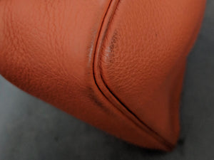 Hermes Massai PM Purse Orange Clemence Leather with 2 Straps