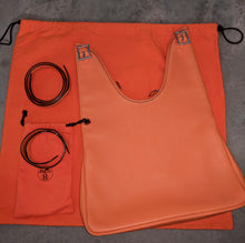 Load image into Gallery viewer, Hermes Massai PM Purse Orange Clemence Leather with 2 Straps