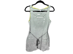 Boden Shoreline Tunic Tank Dress Green Ivory Stripe Belted UK10 US6
