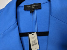 Load image into Gallery viewer, NWT $90 Talbots Two Button Blazer Blue Cotton Blend sz PM
