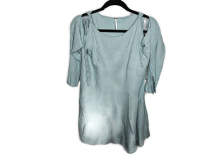 NWT $98 Free People Clear Skies Cold Shoulder Tunic Dress Mint Green sz XS
