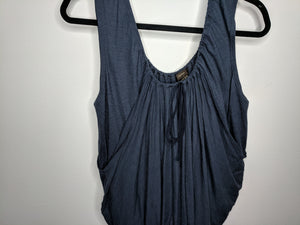 Vera Wang Collection Blue Wool Draped Blouse sz US 6 EUR 40