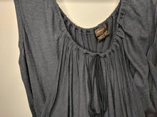Load image into Gallery viewer, Vera Wang Collection Blue Wool Draped Blouse sz US 6 EUR 40