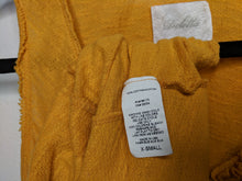 Load image into Gallery viewer, Anthropologie Deletta Mustard Orange Yellow Tank Top USA Made Rosettes Scoop XS