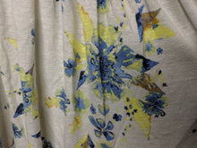 Load image into Gallery viewer, We the Free Floral Blouse Off the Shoulder Ivory Blue Yellow sz S