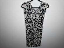 Load image into Gallery viewer, Rebecca Taylor Leopard Print Dress Tunic Beige Black Green USA Made sz M