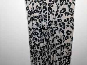 Rebecca Taylor Leopard Print Dress Tunic Beige Black Green USA Made sz M