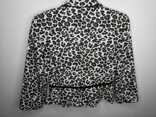 Load image into Gallery viewer, Tahari Arthur Levine Leopard Cheetah Blazer Black White Gray Belted sz 6